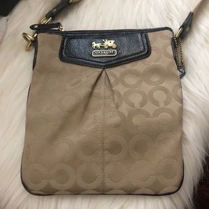 Coach C messenger bag canvas and patent leather